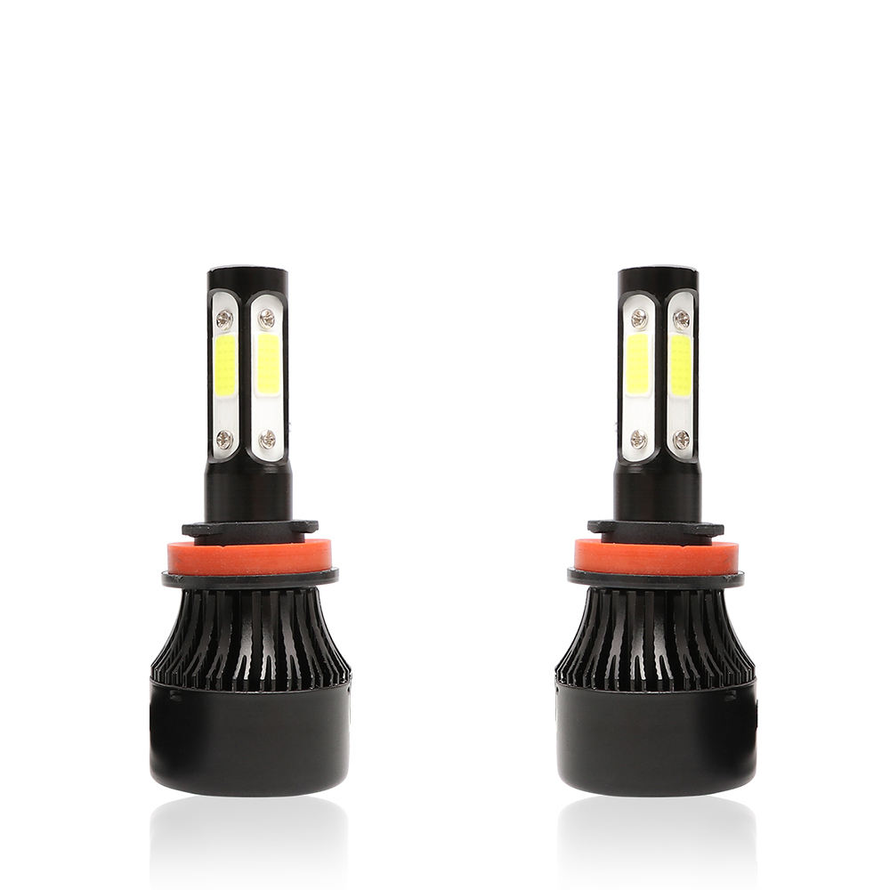 New Design S2 Led Headlight 4 Sides 80w Headlight Bulb H4 H7 Car Auto Headlamps Led Headlights