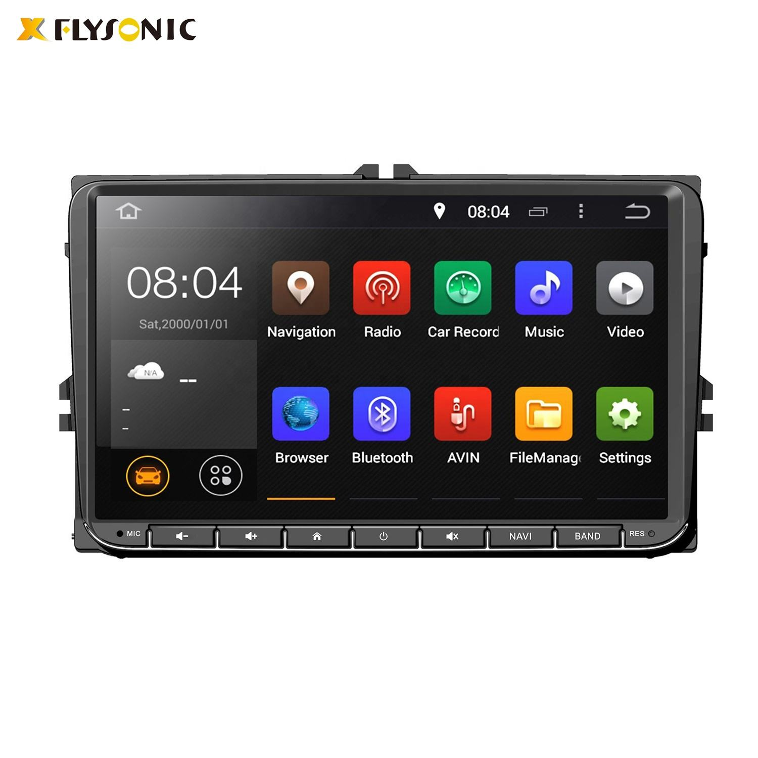 Universal Doppel Din Android Touchscreen Auto Dvd Player für VW