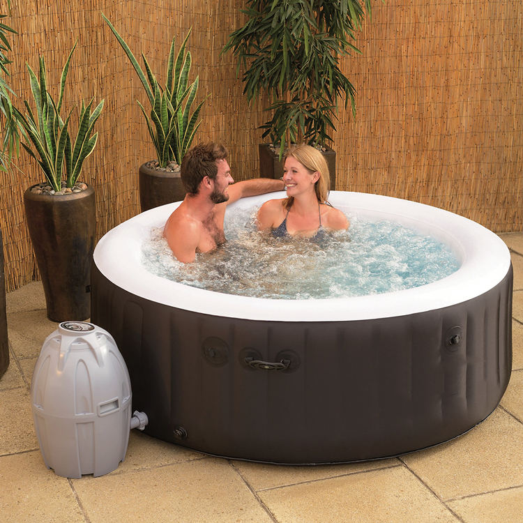 Roundマッサージ2-4 Person Portable Inflatable Hot Tub Spa