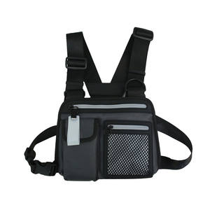 Wholesale Fashion Customizable Multicolour Reflective Unisex Waterproof Tactical Vest Conditioning Chest Pack rig bag