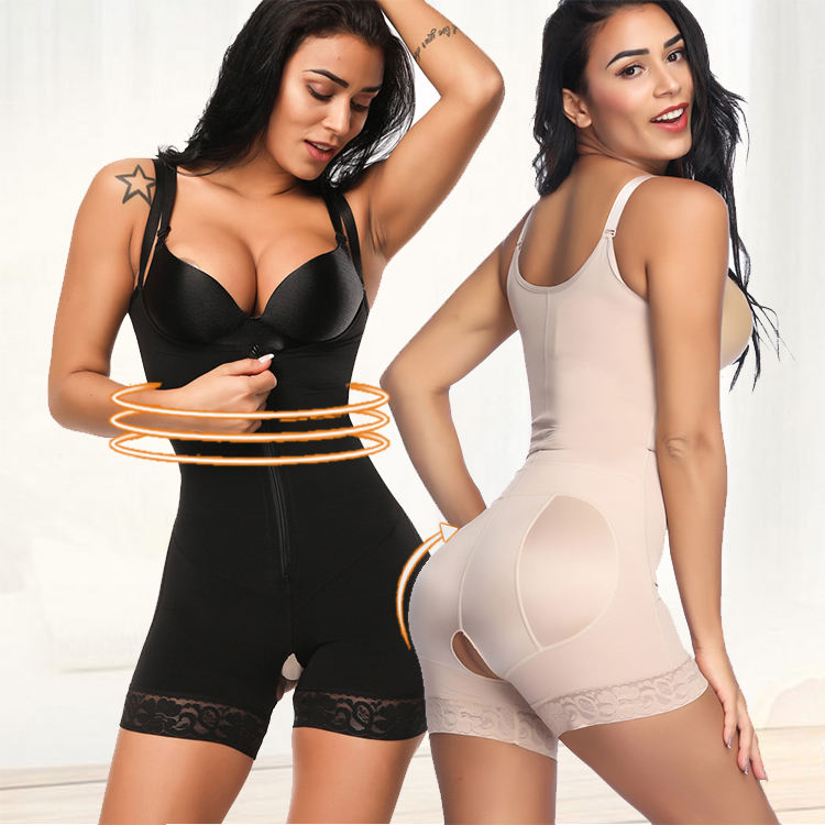 Psunrise Fajas Mesh Rubber Corset and Abdomen and Women Corsets Shaping Bodysuit Tied Waists Corsets