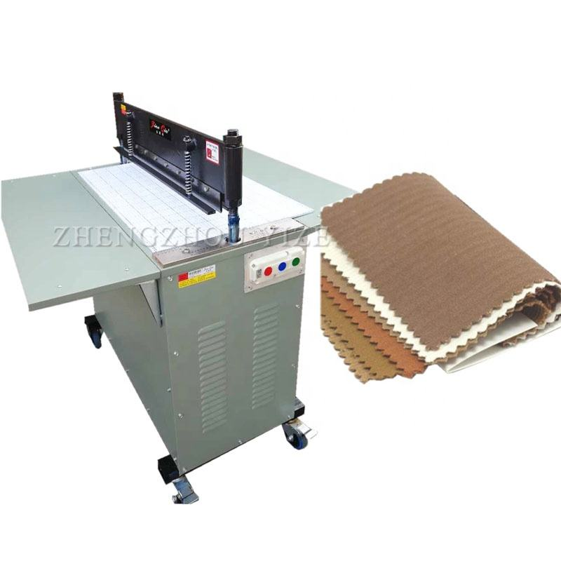 semi automatic fabric sample zig zag pinking cutter textile sample cutting machine