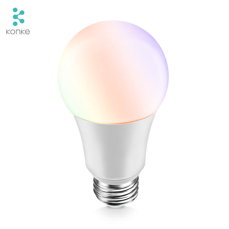 Alexa supports wireless rgb light bulb smart app control color change e27 smart bulb