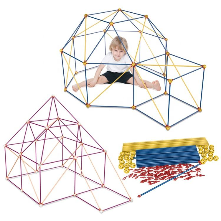 Tent Fort Building Kits Fun Forts STEM Construction Building Toys Crazy Forts Game