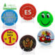 Custom high-end souvenir LED flashing party tin button badges safety pin with plastic box