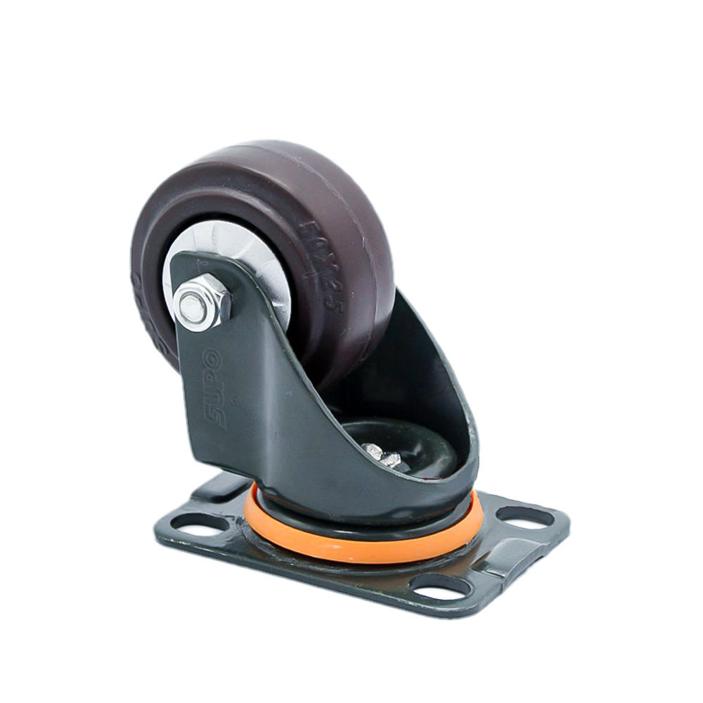 China SUPO xiang rong 2 inch 50mm industrial equipment rubber caster wheels ultra-quiet casters