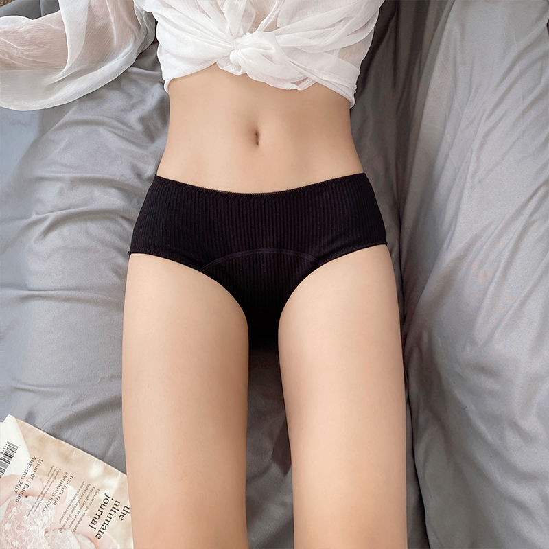 Women Cotton Physiological Underwear Period 4 Layer Sanitary Napkin-free Pants Mid-waist Leak Proof Menstrual Panties