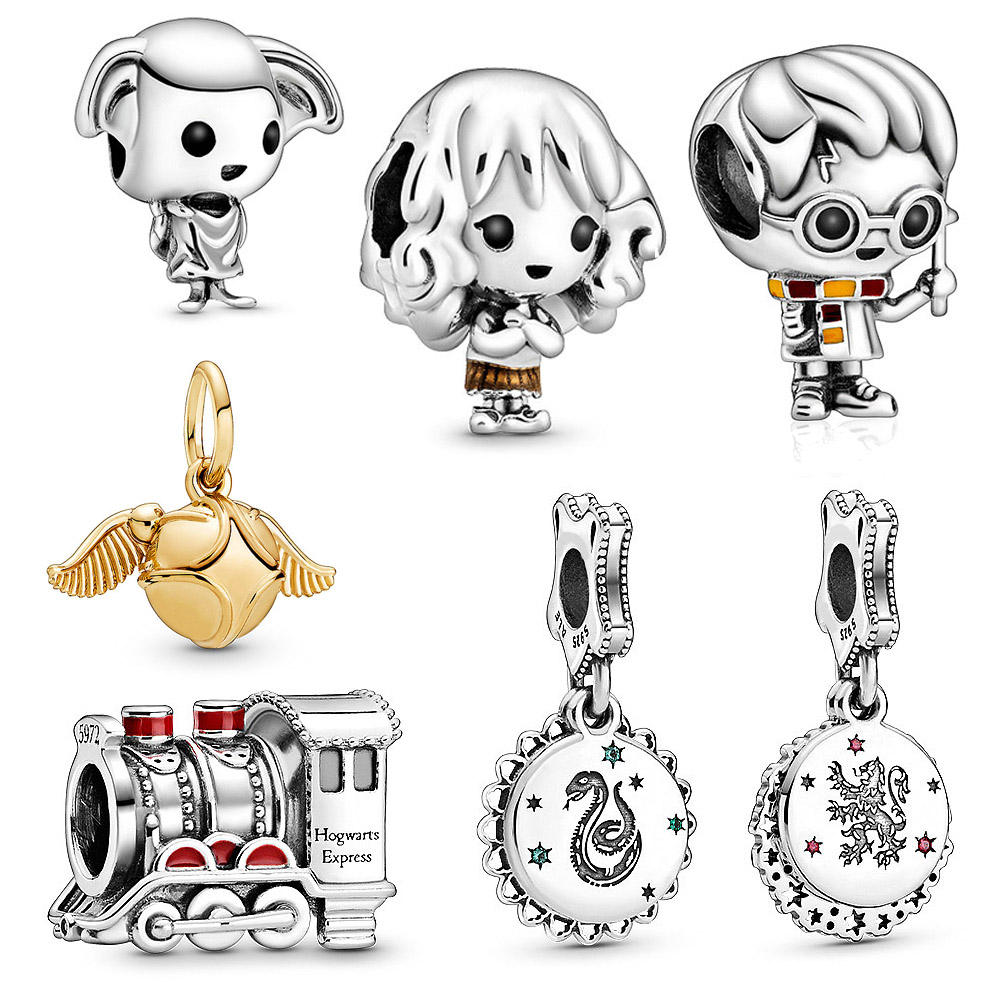 Kailefu Jewellery High quality 925 Sterling Silver Jewelry Beaded Wholesale Gold Charms fits Pandora Charms Bracelet