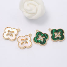 Wholesale 14K Gold Plated Four-leaf Clover Charm for Diy Jewelry