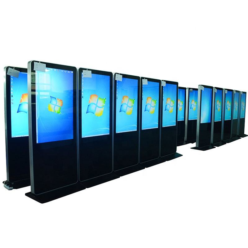 "Floor Stand Digital Signage Kiosk 55"" Floor Standing Digital Signage Display Totem Lcd Advertising Kiosk"