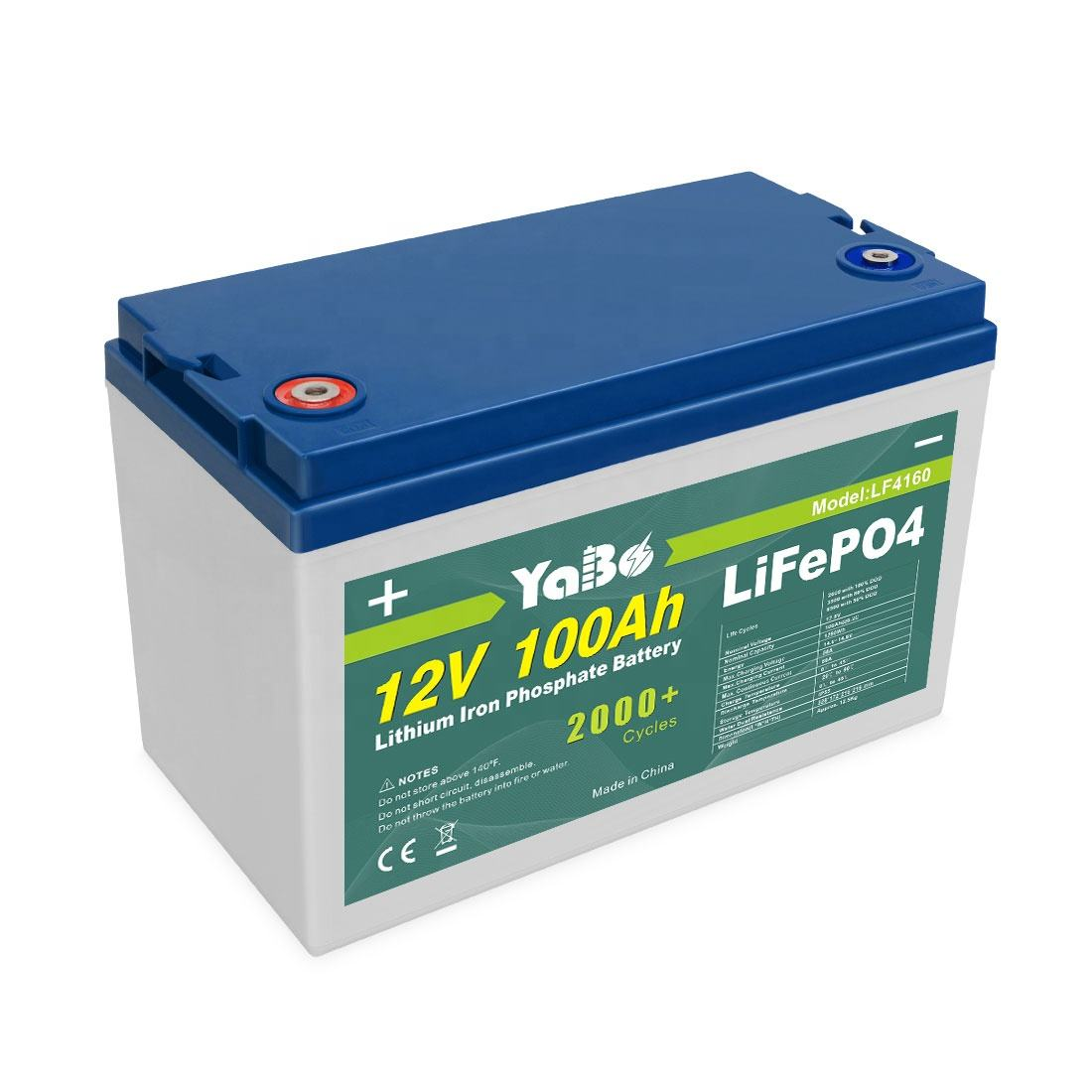 YaBo LiFePO4 Battery 12v 24v 36v 48v 20ah 40ah 50ah 60ah 100ah 150ah 200ah 300ah Deep Cycle Lithium Ion Battery 12V