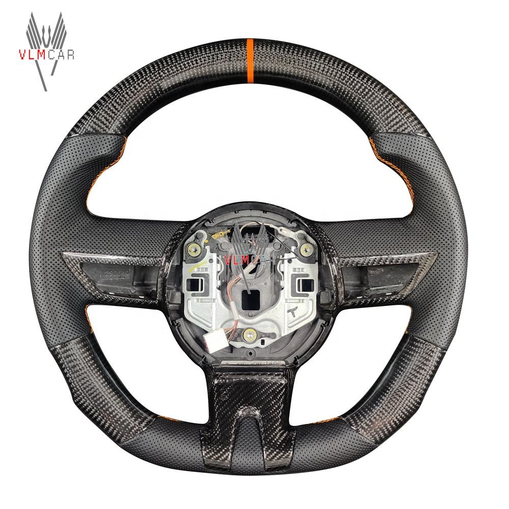Custom carbon fiber steering wheel with leather For Chevrolet Camaro racing wheel convertible