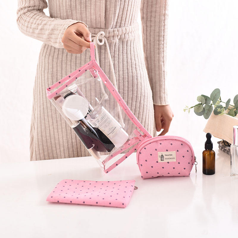 New arrival PVC transparent ladies cosmetic bag organize package