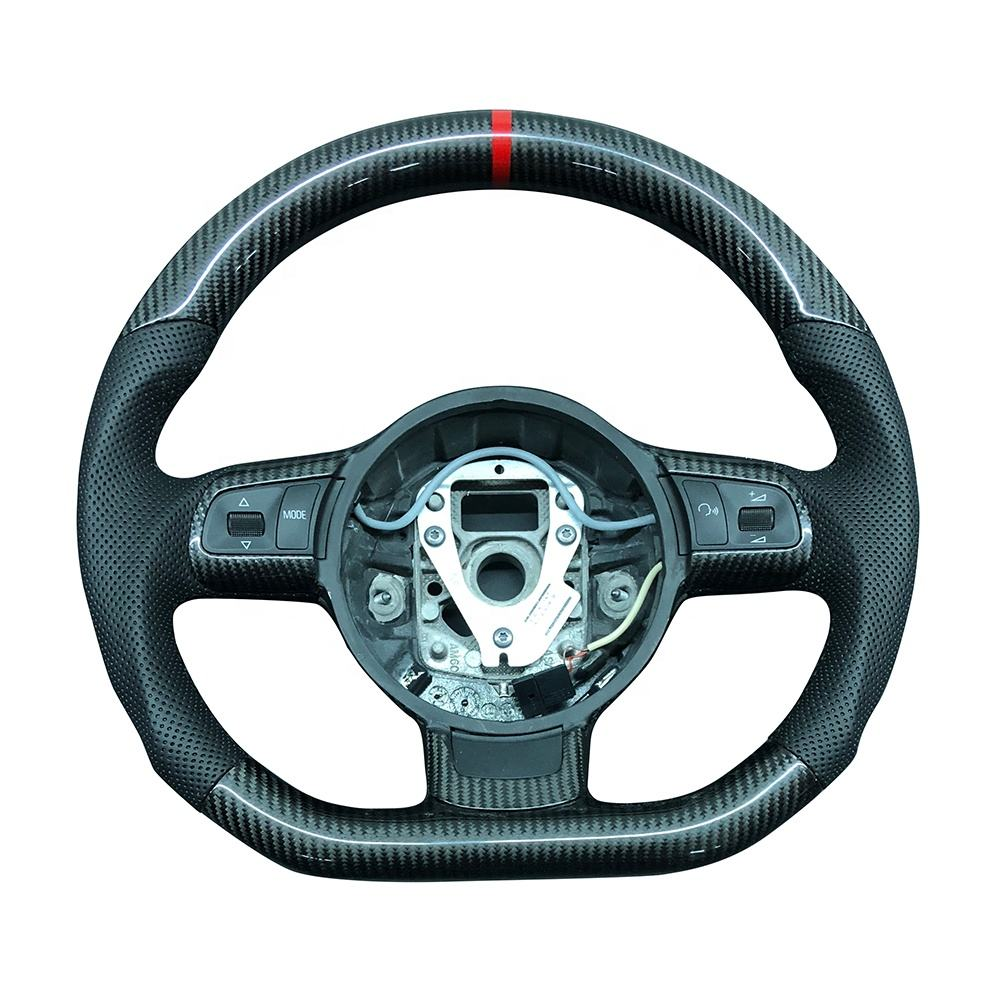 Custom High performance Thicker Carbon Fiber Steering Wheel For Audi TT R8