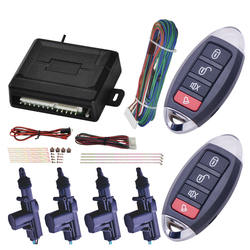 Car Accessories High Quality Auto Remote Central Power Door Lock Unlock Remote Kit Keyless Entry 4 Doors T202
