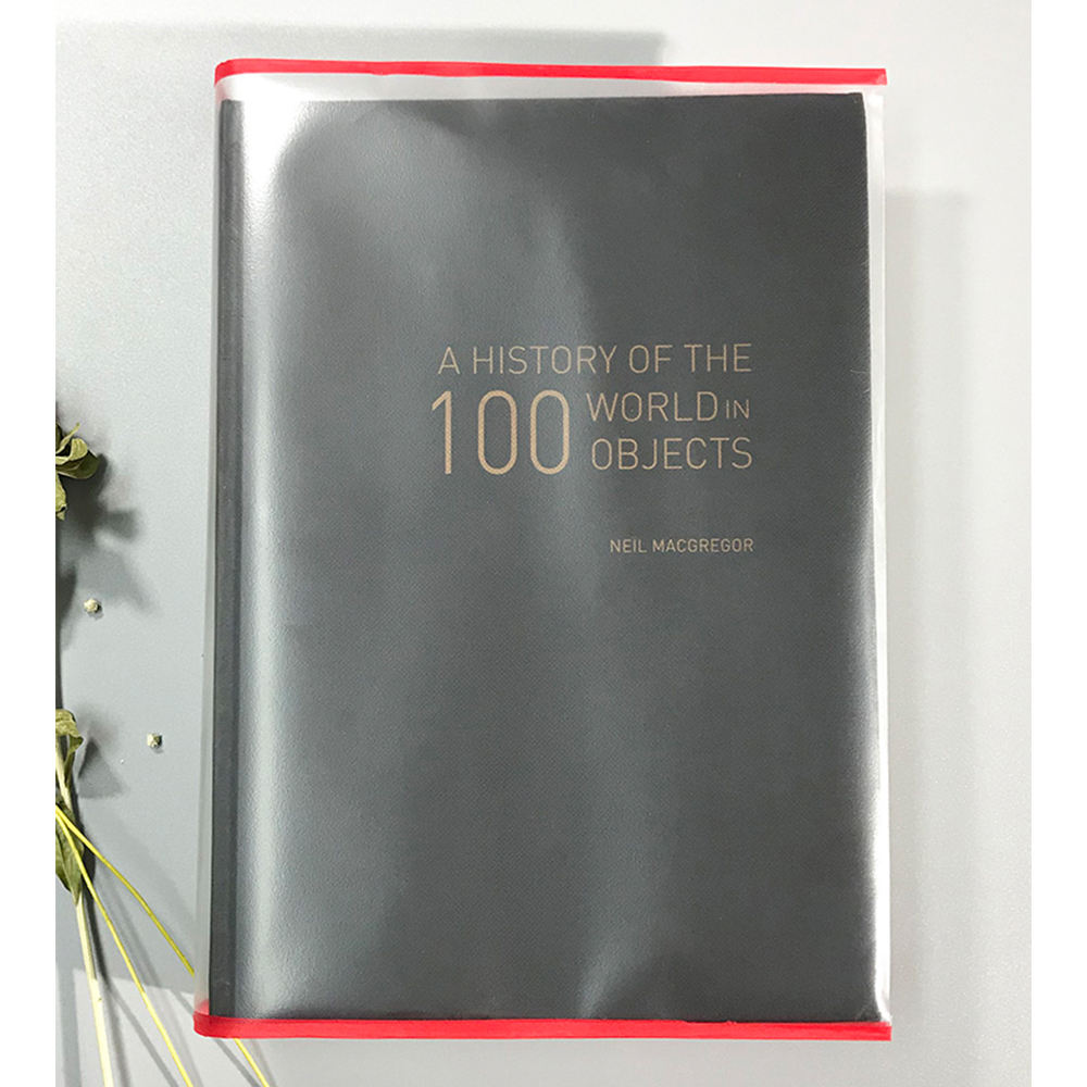 Transparent Plastic Book Cover Protective Covering for Books, Documents, Textbook, Hardcover