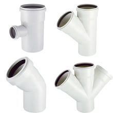 PVE Drainage pipe fittings (elbow,tee,socket)
