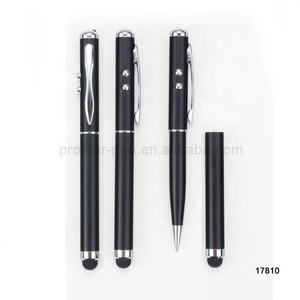 Promotional cheap aluminum pen ballpoint custom logo pen touch screen stylus led laser pen