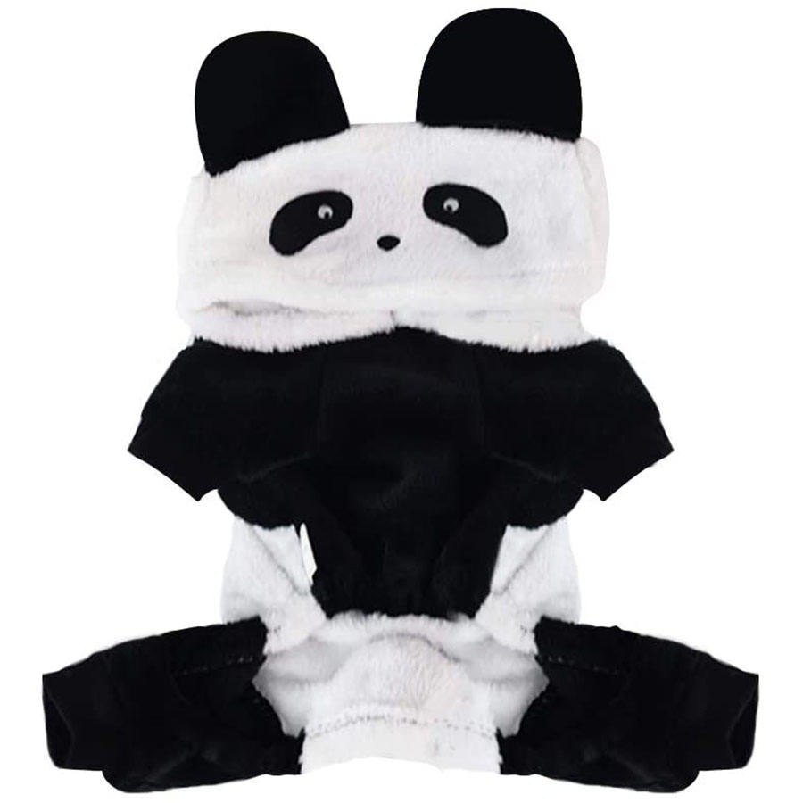 C923 Pet Hoodie Coat Small Dogs Panda Outfits Puppy Cat Cosplay Costume