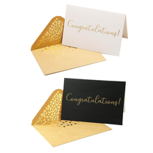 Engagement Graduation Wedding Elegant Greeting Cards With Congratulations Embossed In Gold Foil Letters Congratulations Card