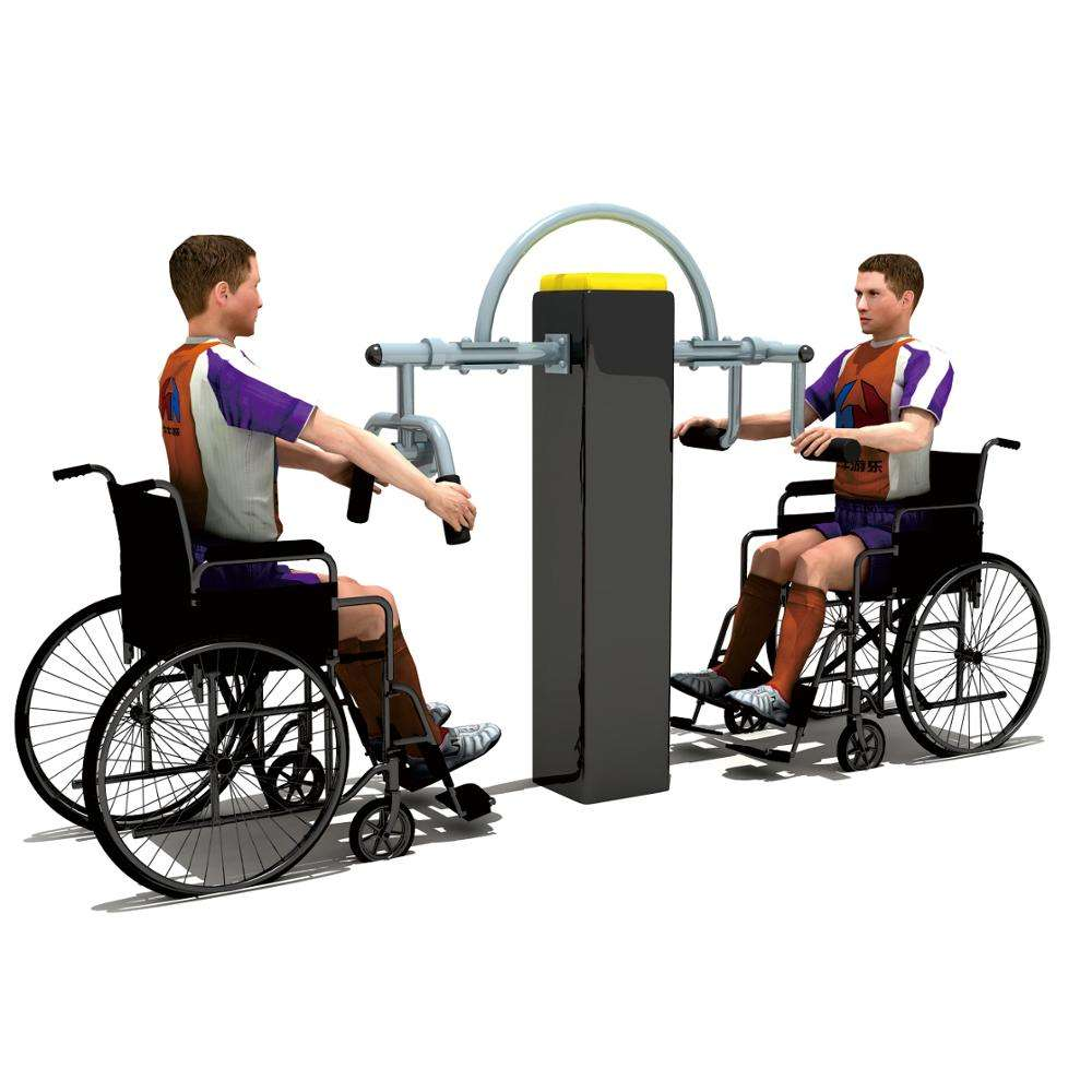 High quality luxury multi function Gs approved outdoor disabled fitness equipment for handicapped person