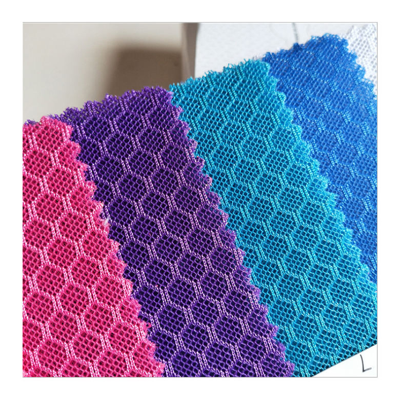 Wholesale Heavy Weight Sandwich Mesh / 3D Spacer Polyester Air Mesh Fabric For Sports Shoes