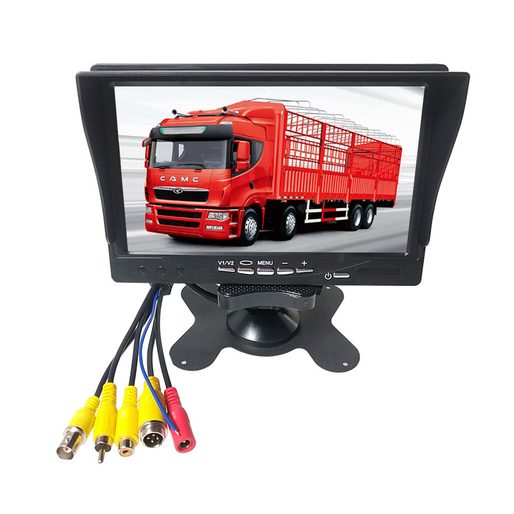 HYFMDVR 7 inch car monitor can be used with 4G 1080P remote video surveillance MDVR use with sun visor / bracket