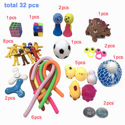 32pcs Sensory Fidget Toys Set Stress Relief Toy EDC Anti-Stress Tools for Adult Kids Funny Combination Toys Amazon Hot Selling