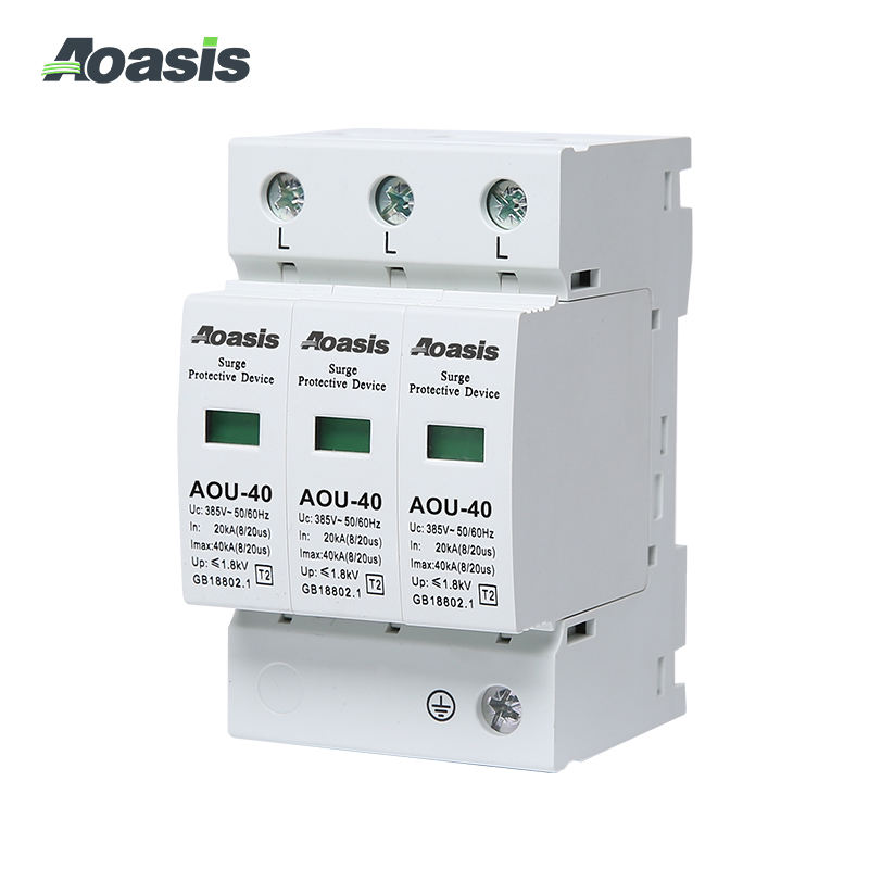 Surge Protector Spd AOASIS AOU-40-3P 2P 4P Professional Manufacture Low Price Surge Protective Device Protector SPD
