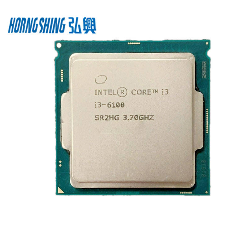 HORNG SHING Supplier Intel Core i3 6100 3700MHz Dual Core 3MB Cache 51W LGA1151 Used Original Processor