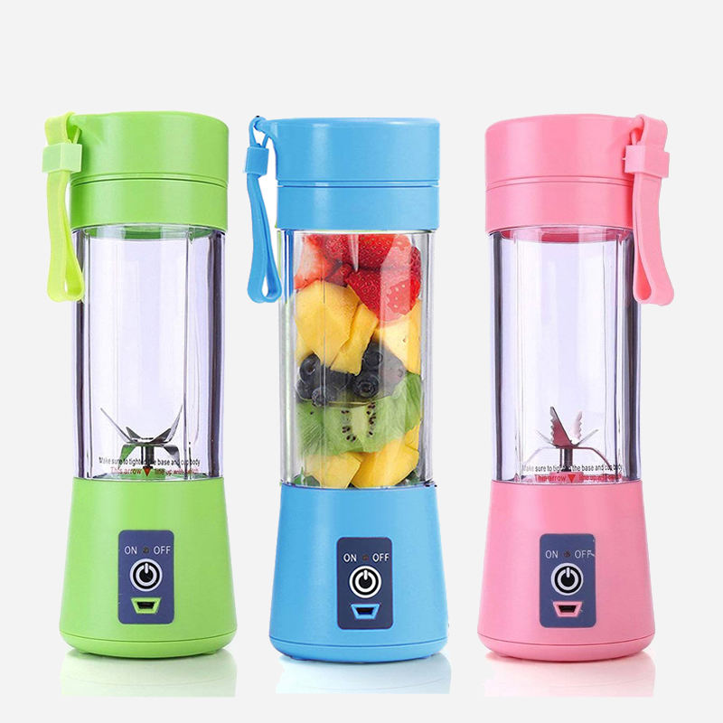 Portable USB Personal Blender Juicer Cup for Smoothies Shakes plastic Mini Travel Water bottles Blender Juicer