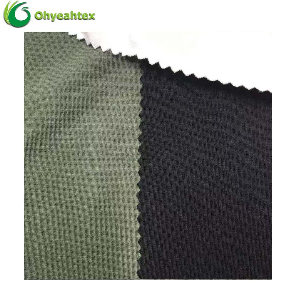 OEKOTEX-100 Certificated Sustainable Lyocell 95 Bamboo 5 Spandex Bamboo Fiber Fabric