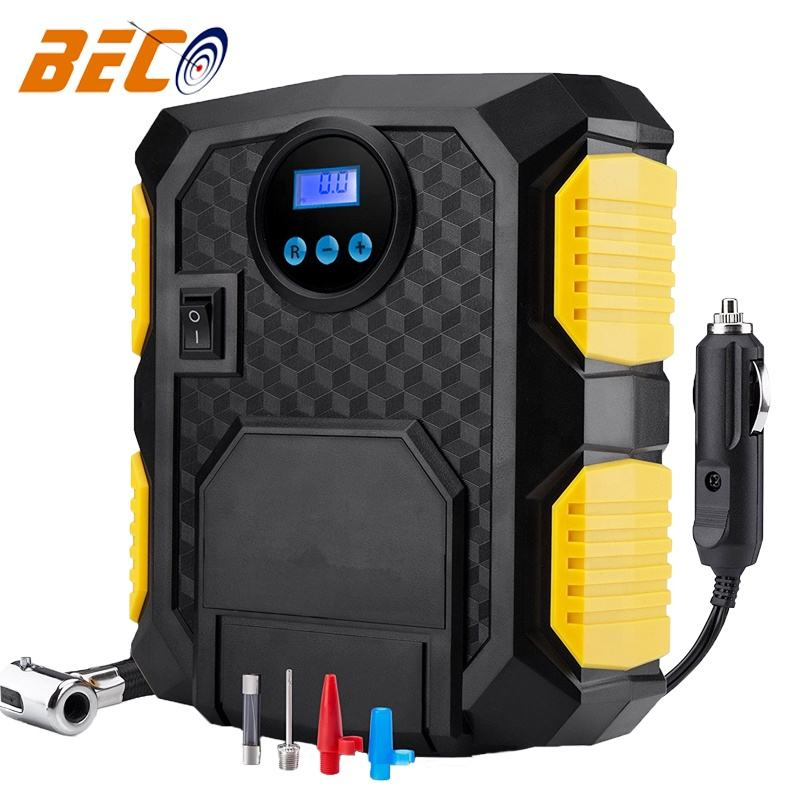 Beco Mini Compressor 12V tire inflators for tire pressure check and air inflation, DC12V digital air pump for tire