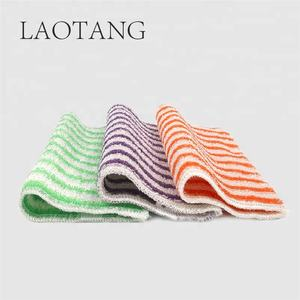 High Absorbent Colorful Stripes Quick-dry Kitchen Towel Set Washcloth