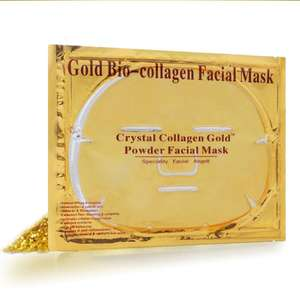 ขายร้อนแผ่น Mask Moisturizing Hydrating Facial Mask Collagen Skin Care 24 K Gold Face Mask