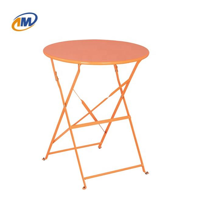 Colorful Metal Iron Steel Round Folding Camping Picnic Tables in Outdoor Powder Coating