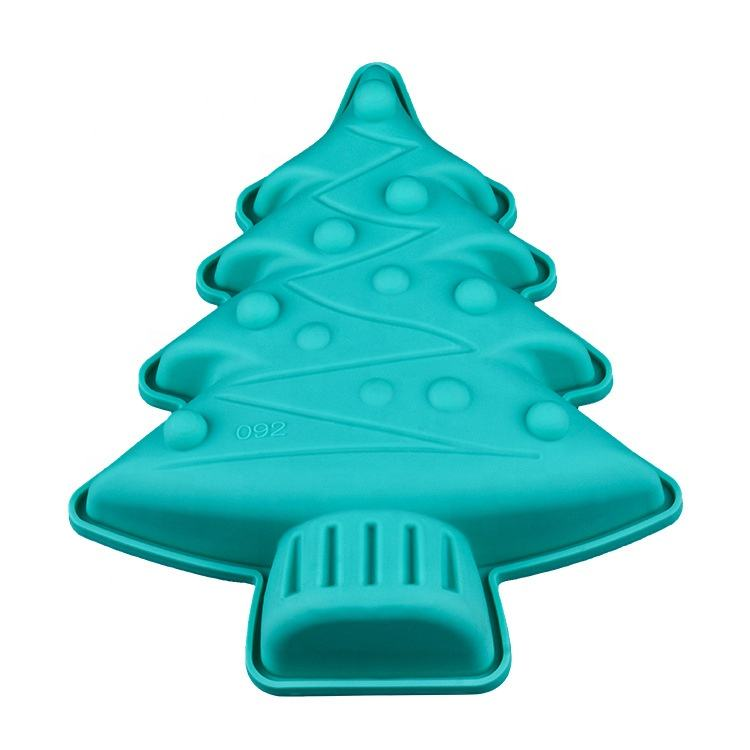 Chocolate Ice Cube Tray Fine Christmas Tree Silicone Cake Mold