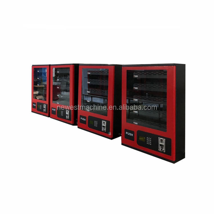 Safe working small vending machine/wall mounted mini vending machine/wall mounted condom vending machine