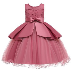 873 Lovely Kids Dress Garments 2020 New Design Girls Wedding Frock Birthday Party Dress Wholesale