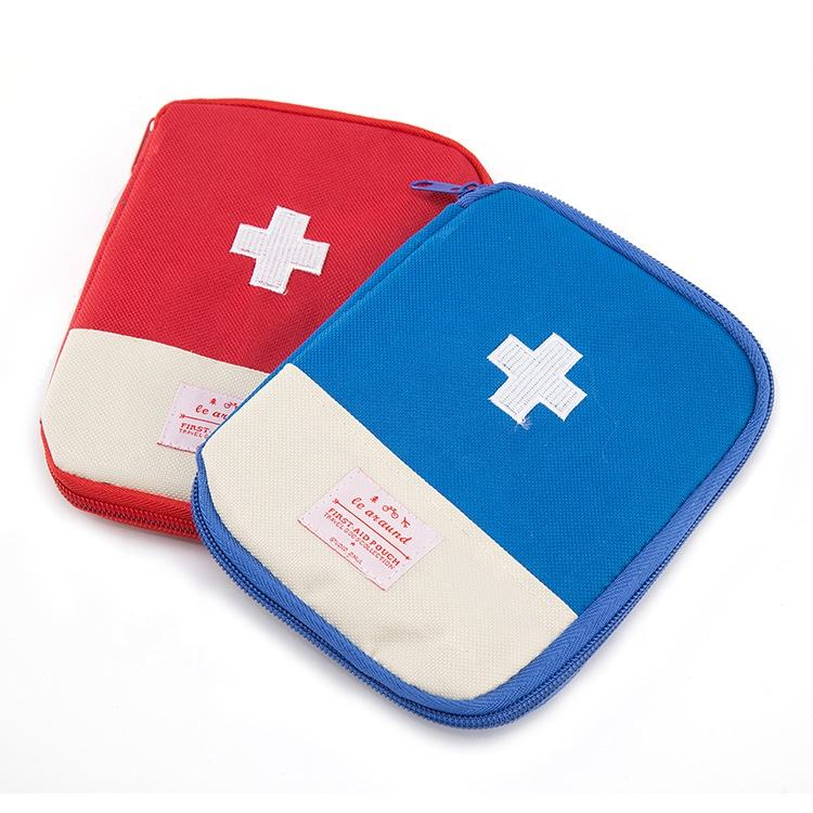 Travel Outdoor Camping Emergency Survival Medicine Portable Small First Aid Medical Kit Pouch Storage Bag