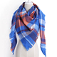 Wholesale Fashion cashmere triangle scarf shawl women pashmina scarf acrylic winter plaid scarf