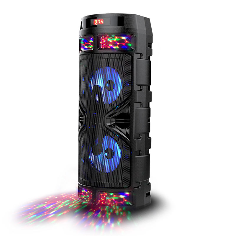 Deluxe AP-X860 Karaoke bluetooth speakers portable speaker caxinha de som with TF/USB/FM/AUX in/Mic in/RGB lights etc