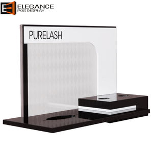 Beautiful and Smooth Counter Acrylic Eyelash Display Case Cosmetics Show Rack