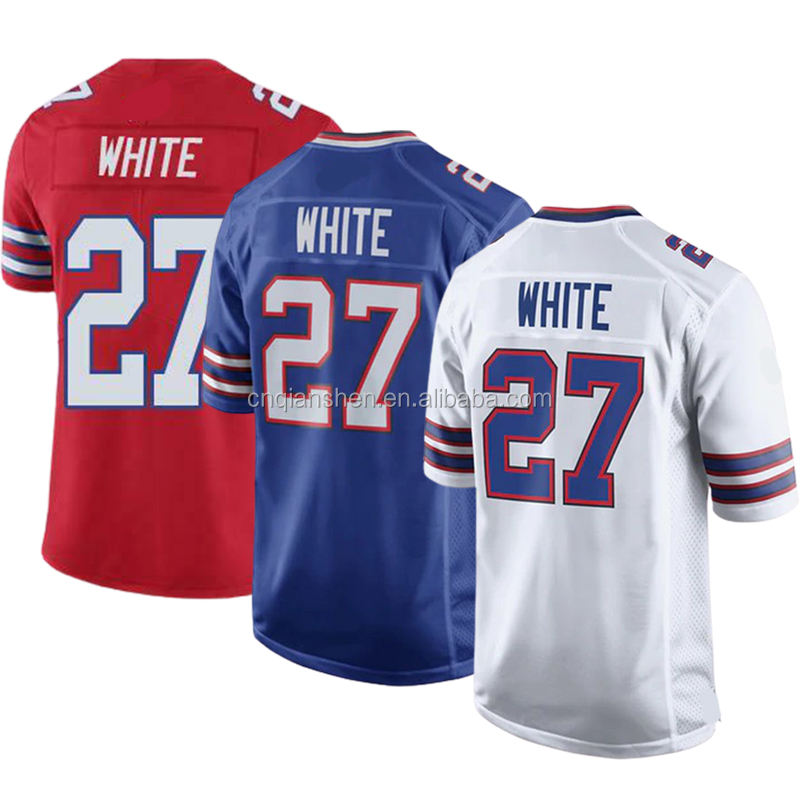 Tre White 27 American Football Club Uniform Jersey Best Sale 3D Embroidery Mens Sports Shirt Wear Drop Shipping Wholesale