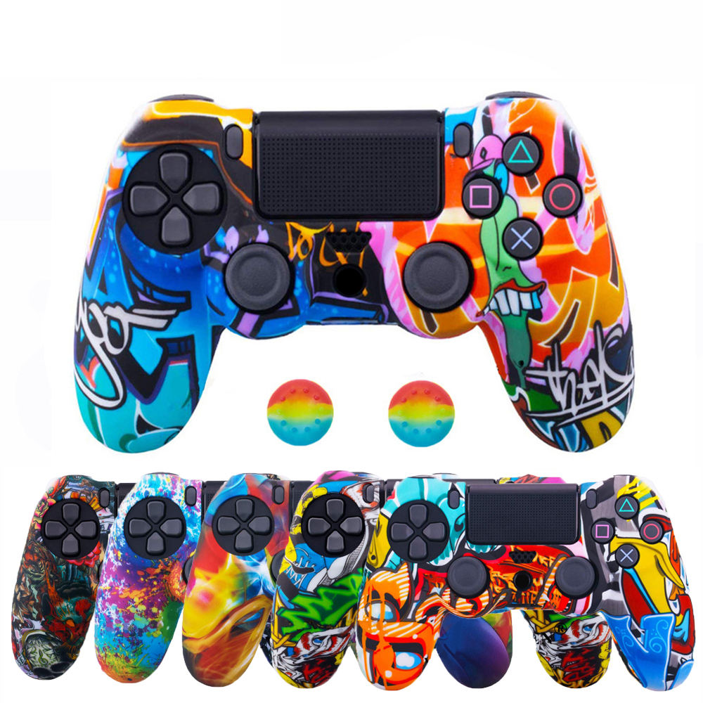 PS4 Controller Case Silicone Case Protective Skin Cover PS5 PS4 Controller Wireless Other Game Accessories For Playstation 4
