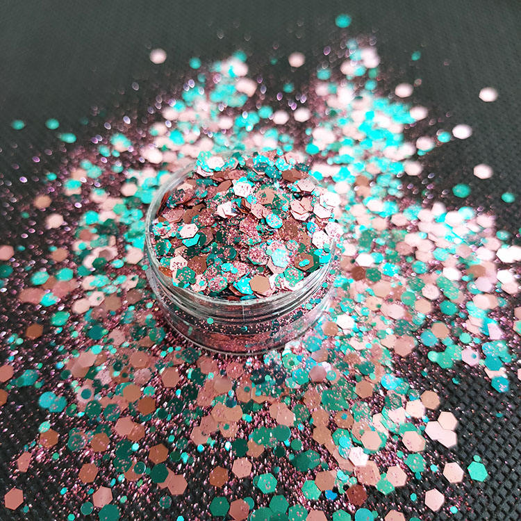 High Quality Polyester Glitter High Temperature Solvent Resistance And Acid-alkaline Resistant Beauty Polyester Glitter Powder For Nail Art Decoration