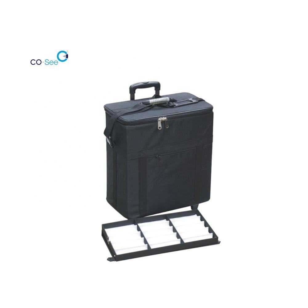 2031 portable eyewear optical and sun glasses display suitcase in luggage manufacturer