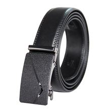 Cheap cowskin automatic black real leather men belt