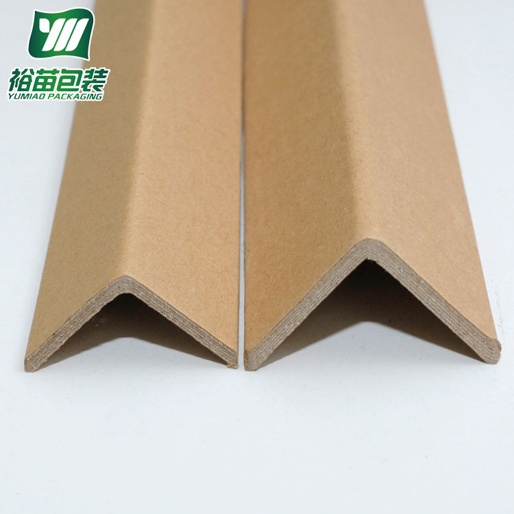 Eco friendly L shape brown and white cardboard corner edge board sheet paper protector