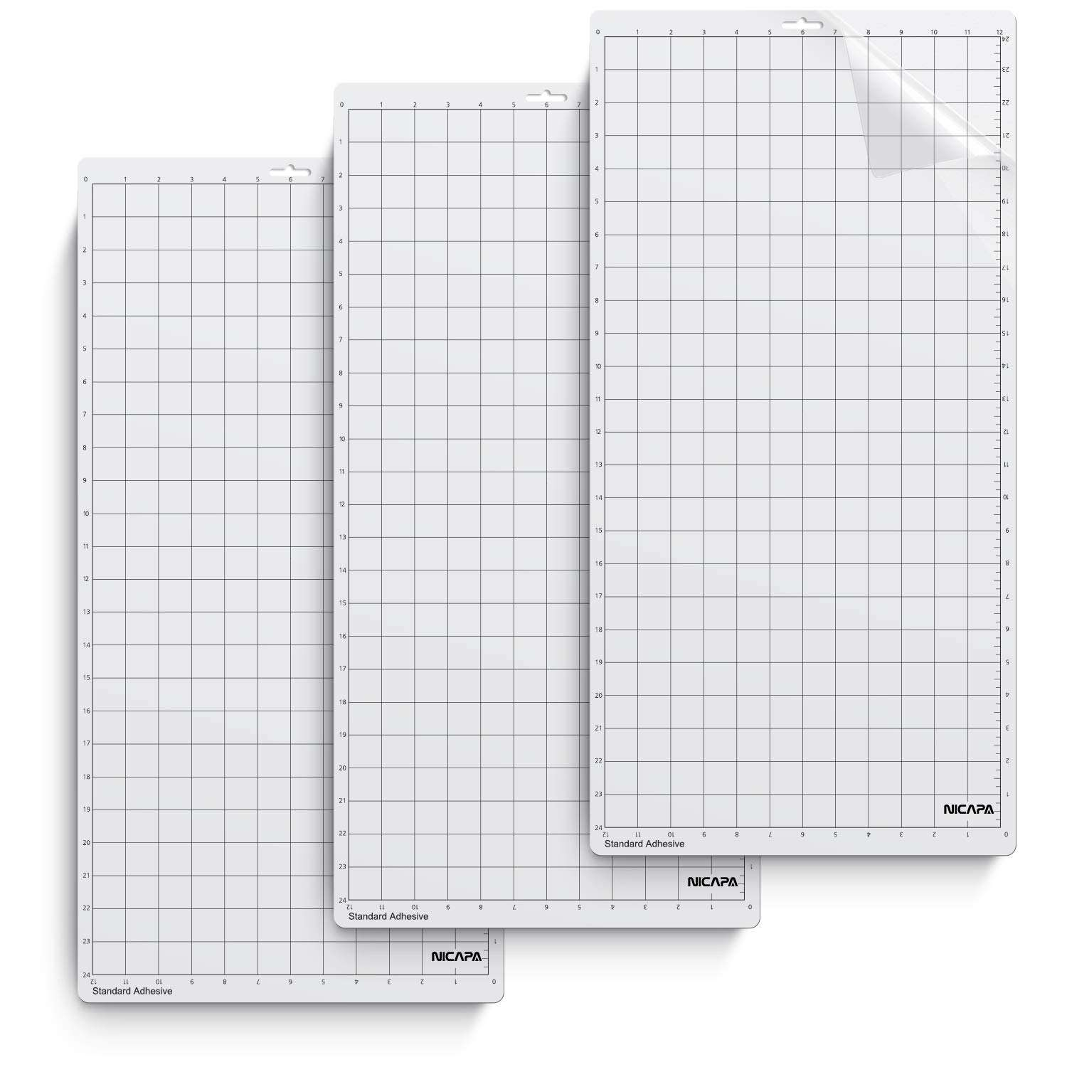 Nicapa Cutting Mat for Silhouette Cameo 3/2/1 (StandardGrip,12x24 inch)